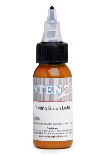 Intenze Ink Lining Color Brown Light