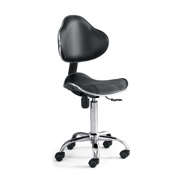 Tattoomöbel - Dreh-Stuhl mit Rückenlehne - Chromatic