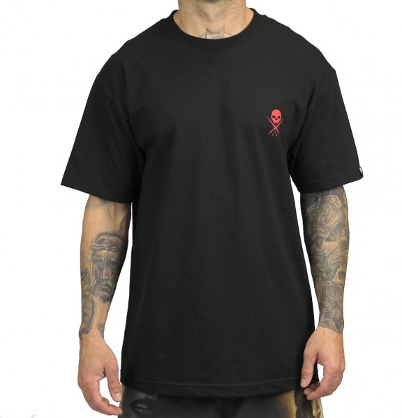 Sullen Clothing - STANDARD ISSUE BLK/RED TEE