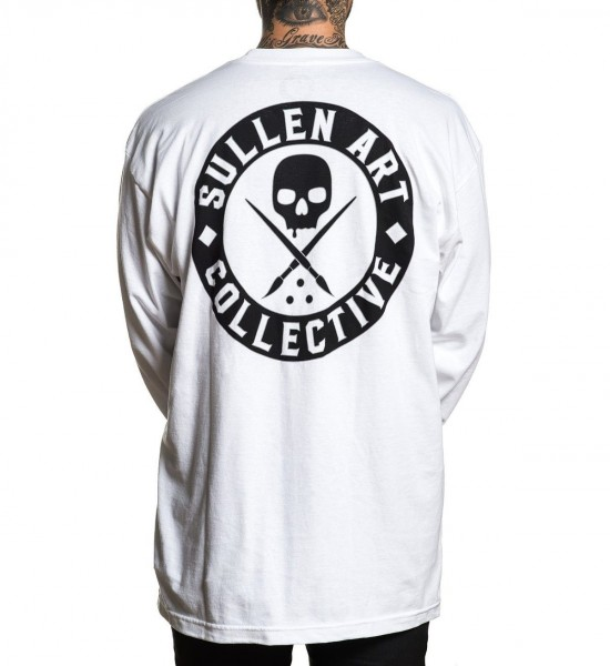 Sullen Clothing - Badge of Honor Long Sleeve - White