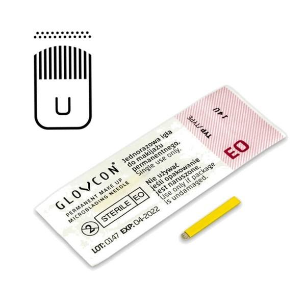GLOVCON Microblading Nadel - U SEM - 0,18 mm