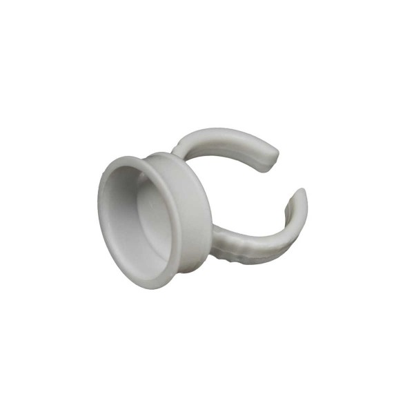 Farb-Finger-Ring - 17 mm - Weiß - 100 Stck.
