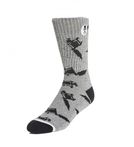 Sullen Clothing - Machines Socks Grey